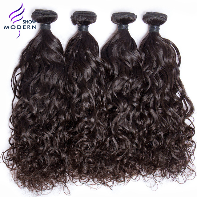 Aliexpress buy modern show brazilian virgin hair water wave modern show brazilian virgin hair water wave unprocessed human hair weave bundles hair extensions 12 pmusecretfo Gallery