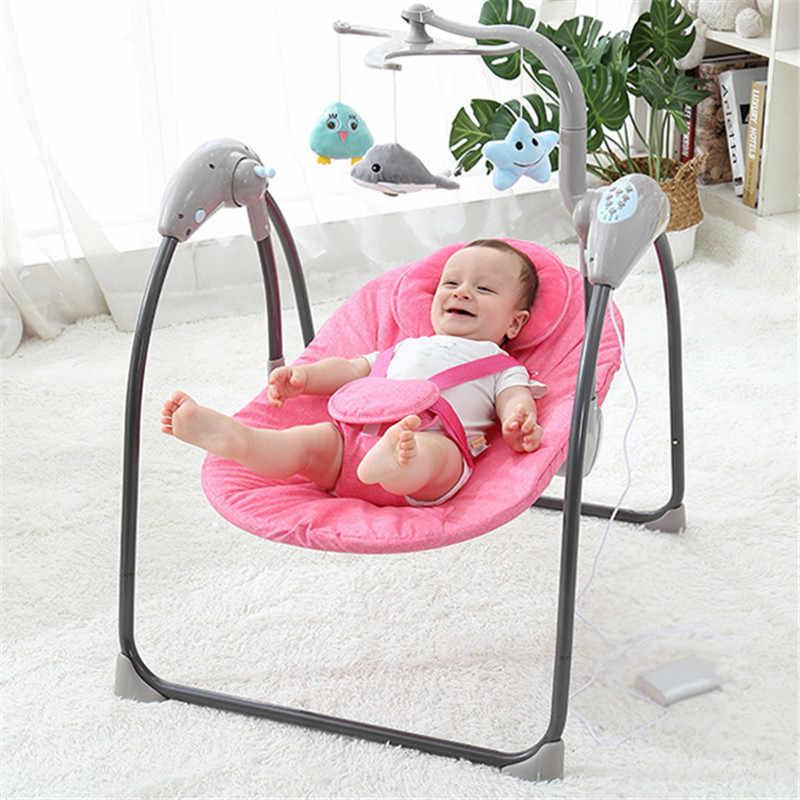 Детское кресло-качалка, с дистанционным управлением