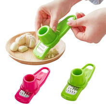 Plastic Garlic Press Ginger Garlic Pepper Garlic Grinding Grater Planer Slicer Cutter Garlic Grinding Tool Kitchen Accessories(China)