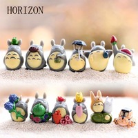 12pc /Set Hayao Miyazaki Series Gnome Toy Micro Landscape Mini Garden Decoration Miniatures Toys Home Decor