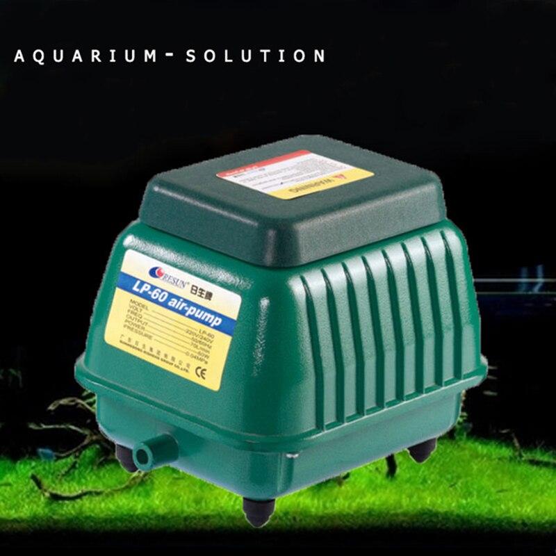 60W 70LPM RESUN LP 60 Low Noise Aquarium Air Pump for Koi Fish Septic Tank Oxygen Air Aerator Hydroponics Pond Air Compressor
