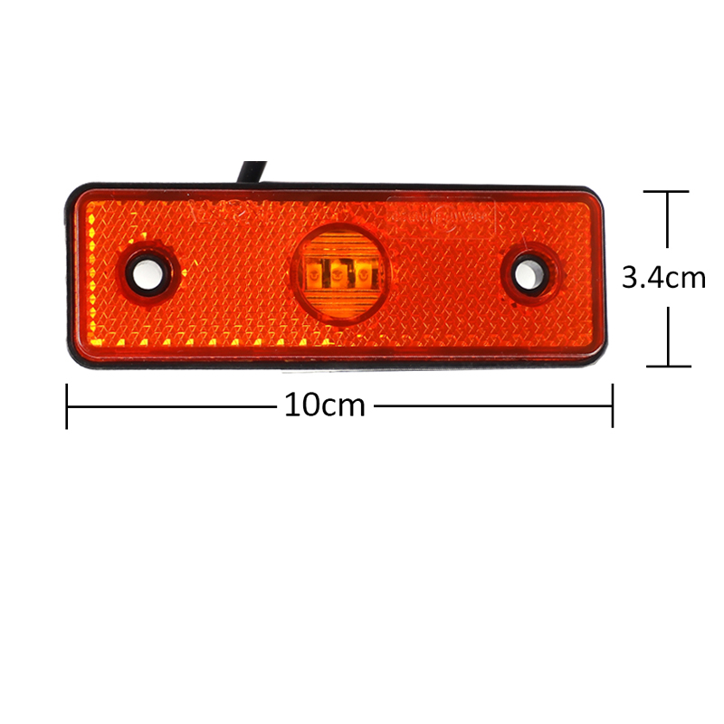 Image 3 - 1 piece 24V LED Side marker light Amber Reflector Trailer  sign position Lamp For Truck car accessory ATV RV Caravan Motor SUV-in Truck Light System from Automobiles & Motorcycles
