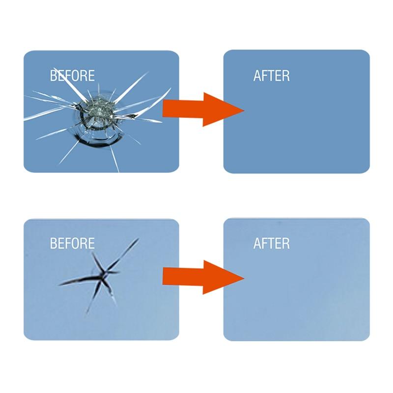 VISBELLA Kit di riparazione vetri per parabrezza per auto Ripristino - Set di attrezzi - Fotografia 5