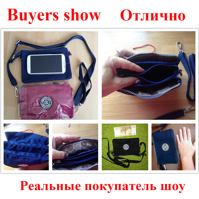 7b9d7355fe 2016 clutch bag women messenger bags casual mini crossbody bag for girls  waterproof nylon ladies handbags female high quality-in Shoulder Bags from  Luggage ...