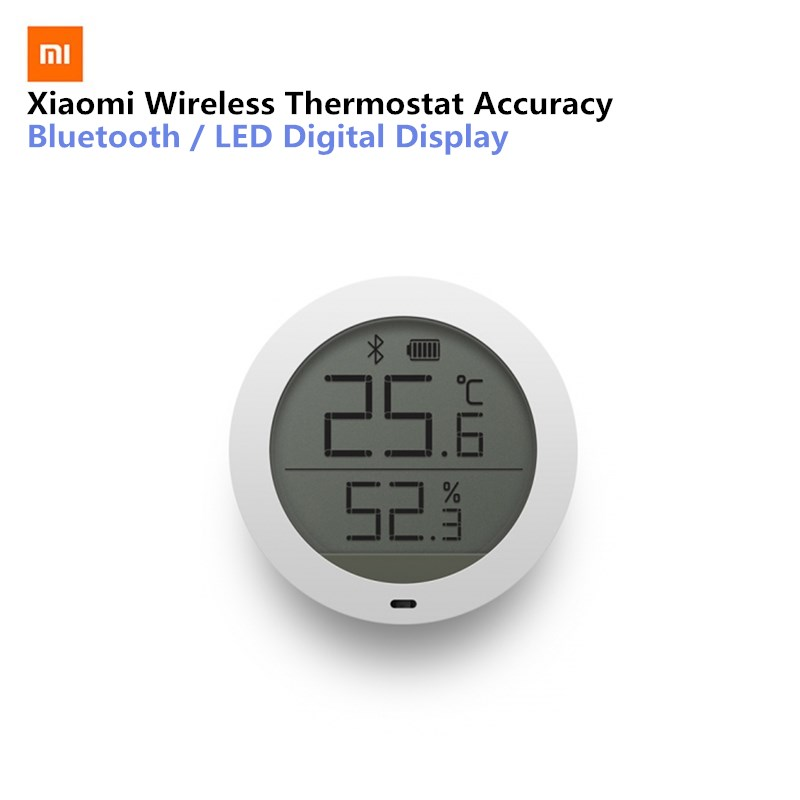 Xiaomi Mijia Smart Thermostat Genauigkeit Temperatur Digital Wireless Bluetooth Feuchtigkeit Sensor Meter Arbeit auf APP Mit Batterie