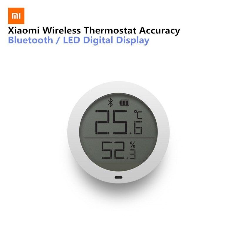 Xiaomi Mijia Smart termostato temperatura precisión Digital inalámbrica Bluetooth Sensor de humedad medidor trabajo en APP con la batería