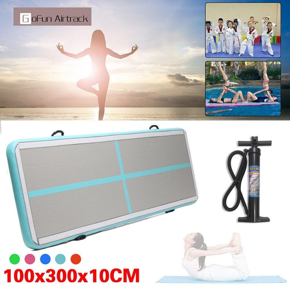 118x39x4 pouce Airtrack Air Piste Plancher Maison Gonflable Gymnastique Tumbling Mat GYM Avec pompe Manuelle