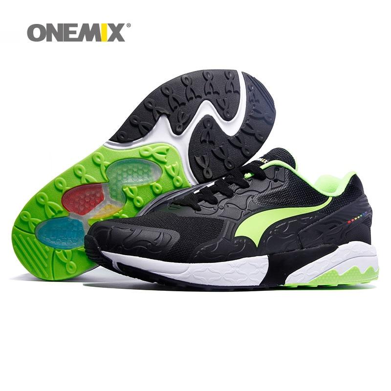 где купить ONEMIX Men Running Shoes for Women Retro Classic Athletic Trainers Sports Shoe Jogging Mesh Breathable Outdoor Walking Sneakers по лучшей цене