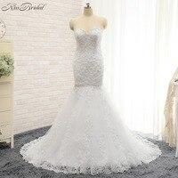 Vestido De Noiva Custom Design Wedding Dress 2015 Sheer Long Sleeves A Line Chapel Train Lace