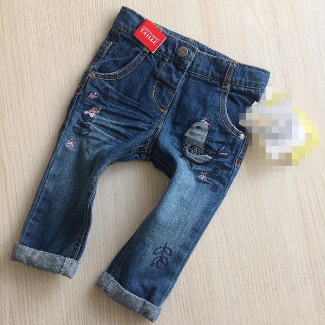 Llegan nuevos pantalones del bebé de moda Lindo Brid niñas denim pantalones largos para bebé Recién Nacido niñas skinny jeans