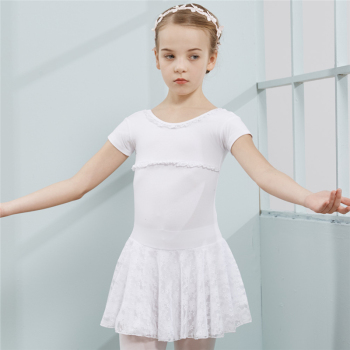 Combed Cotton Ballet Dress Tutu Ballet for Girls Kids Children High Quality Short Sleeves Tulle Dance цена 2017