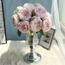 Anna round rose artificial flower bouquet fake wedding decoration home decorations high quality flowers