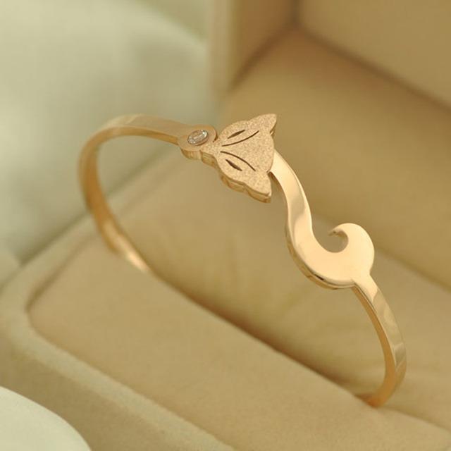 Cz jóias com diamantes de luxo pulseira pulseiras das mulheres titanium fox pulseira cuff pulseiras pulseras mujer bague femme manchette