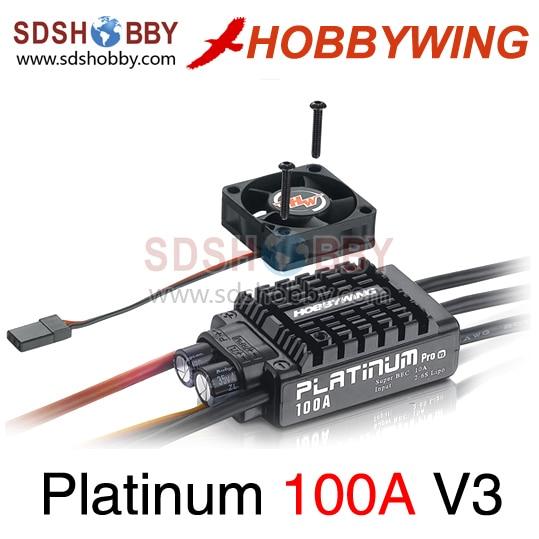 Hobbywing Platinum 100A V3 Brushless ESC/ Speed Controller ...