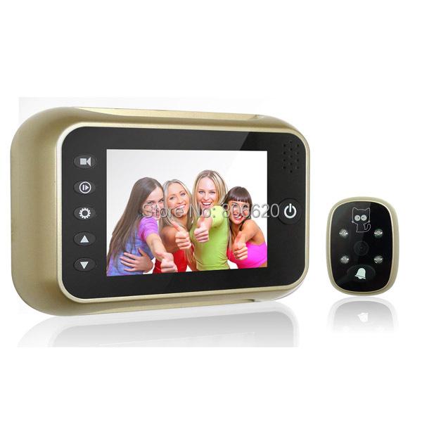 3.5 Polegada Espectador Olho Mágico Digital de Alta Definição para a campainha da porta, gravação de vídeo & Foto snapshot Frete Grátis Gota Disponível