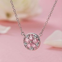 Best Quality 100 925 Sterling Silver Original Crystals From SWAROVSKI Pendant Necklaces Women Handmade Fine Jewelry