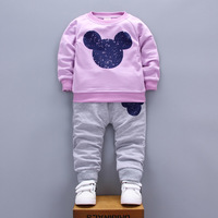 Baby Boys Costumes Baby Girls Minnie Mickey Clothing Autumn Winter Cotton Shirt Toddler Boys Long Sleeved