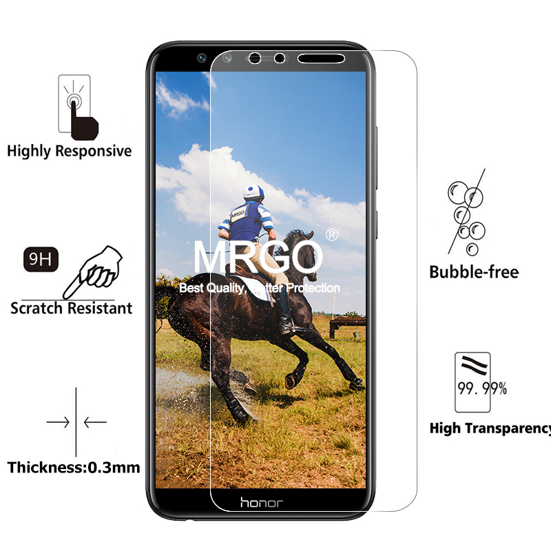 Image 2 - 2Pcs Glass for Huawei Honor 10 9 Lite Glass Screen Protector on Honor 9X Pro Protective Tempered Glass for Honor 9 10 Lite Light-in Phone Screen Protectors from Cellphones & Telecommunications on