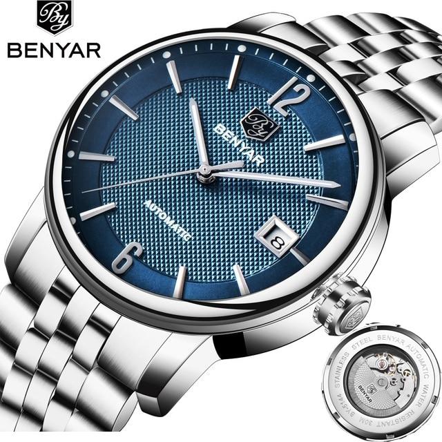 BENYAR Men s Watches Top Brand Men Automatic Mechanical Watch Man Fashion Sports Watch Waterproof Clock