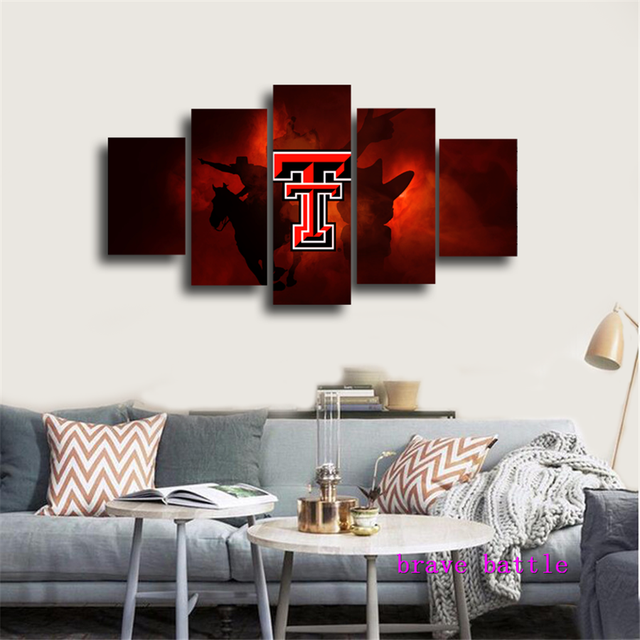 TEXAS TECH UNIVERSITY LOGO Canvas Painting Living Room Home Decor ...