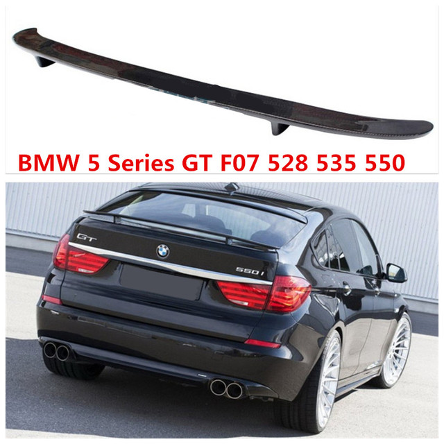 Spoiler For Bmw 5 Series Gt F07 528 535 550 2010 2017 High Quality Carbon Fiber Car Rear Wing Spoilers Auto Accessories