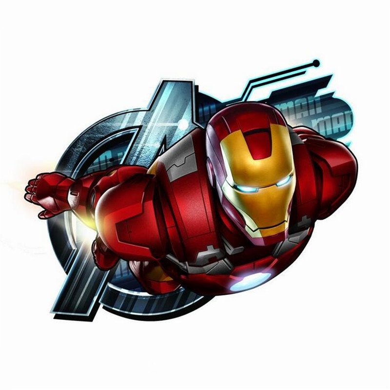 New Arrival The Avengers Iron Man Sticker Anime Cartoon Car Styling Motorcycle PVC Waterproof Stickers Accessories 10pcs
