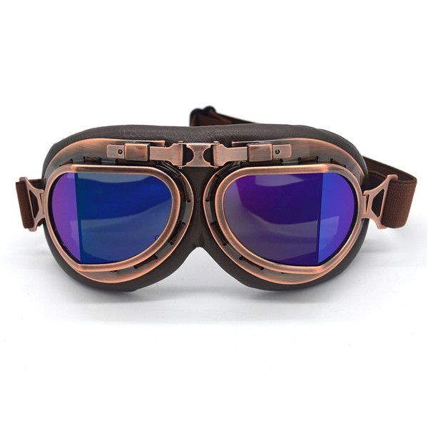 3841fbe460 Dropwow Motorcycle Goggles Glasses Motorbike Pilot Steampunk Vintage ...