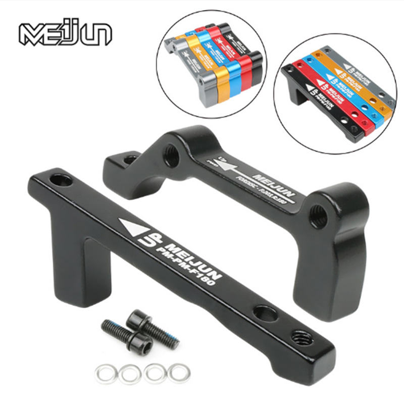 MEIJUN Mountain Bike Disc Brake F203/R180 Front and Rear A-pillars B-Slide IS Disc Brakes Adaptor Disc Brakes Conversion Holder