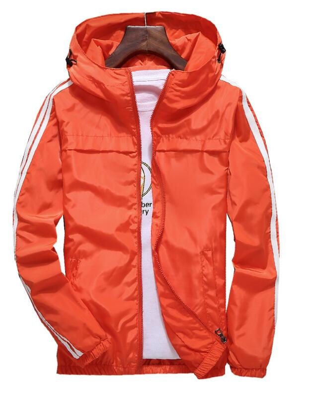 Frühling Herbst Mit Kapuze Windjacke Jacke Frauen Männer Zipper Beiläufige Lange Ärmeln Jaqueta Masculina Gestreiften College Jacken