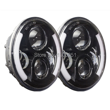 led new product arrival !  Wrangler 7 inches LED headlight with halo ring