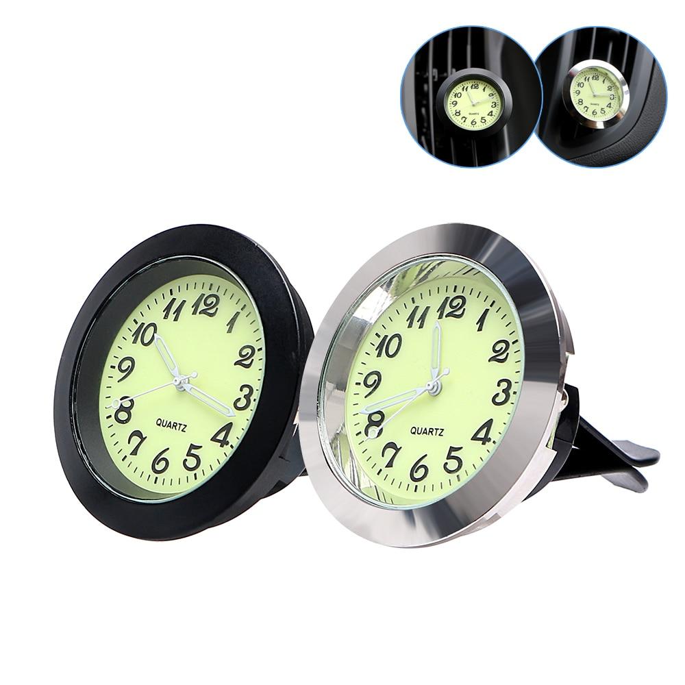 Car Ornaments Car Air Vent Clip Luminous Clock Digital Pointer Mechanics Quartz Watch Interior Accessories Car-styling