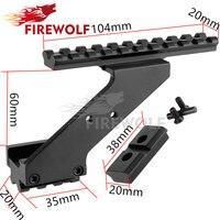 FEU LOUP Tactique de Portée de Pistolet Mount Weaver & Picatinny Rail Pistolet Rail pour ajouter Portée Sight Lampe de Poche Laser