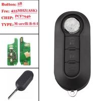 NEW Type (1pcs) 3 Button Remote Key Fob 433MHz ID46 for Fiat 500L MPV Ducato for Citroen Jumper for Peugeot Boxer 2008 2015