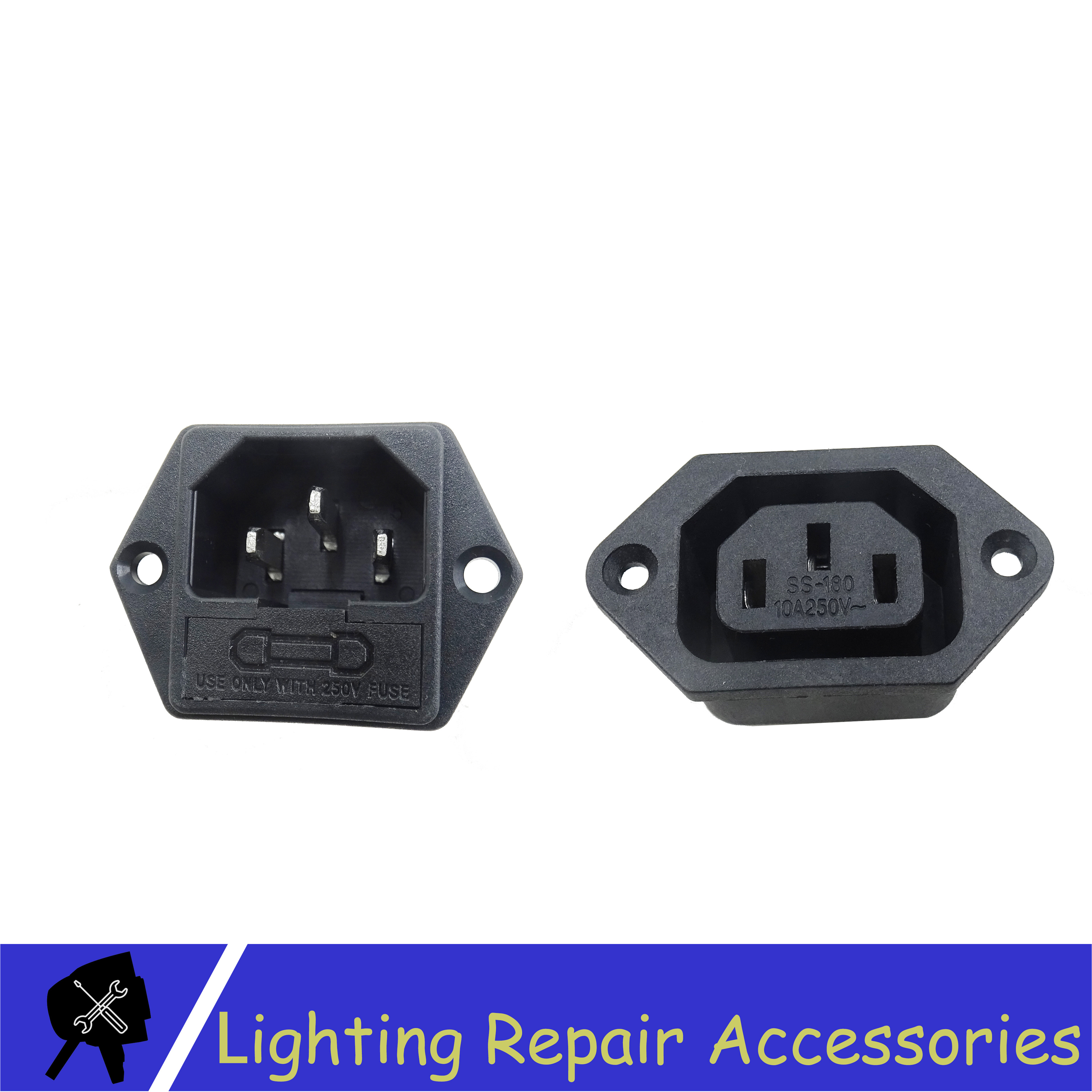 5sets/pcs Power Socket Power Male And Female For 7x12w 12x12w 7x10w 7x18w Led Par Power Input And Output And Electronics