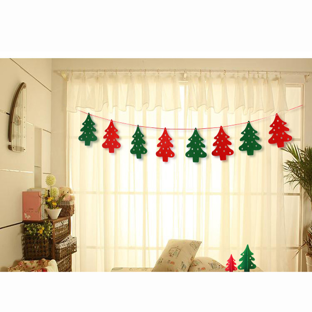 New year christmas party decoration diy banner flag for New home christmas decoration
