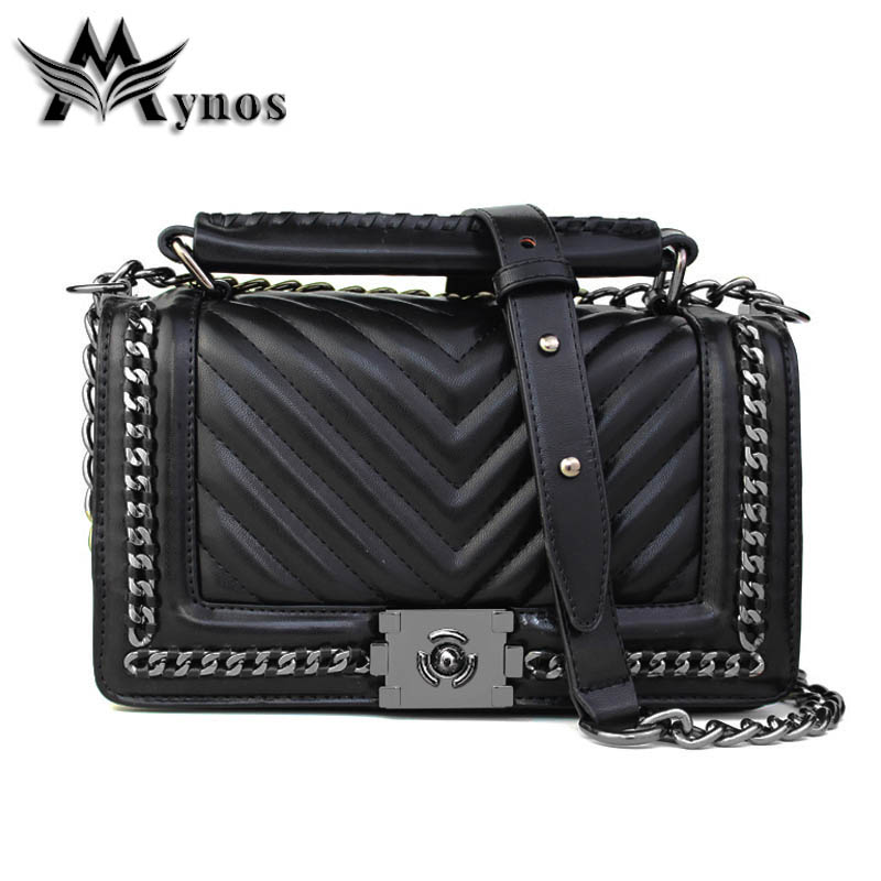 Mynos Fashion Famous Designer Brand Women Leather Handbag Shoulder Crossbody Bag For Women Messenger Bag Ladies Tote Sac A Main fashion women leather handbag crossbody shoulder messenger phone coin bag for party or appointment as designer gift a7