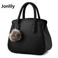 Jonlily תיק נשים מעצב תיקי עור PU נשי תיק גבירות משרד תיק כתף ניידת גבירותיי Hobos תיק Totes-SLI187