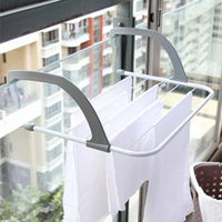 Outdoor Folding Rack For Clothes Towel Dryer Storage Rack Hanger Shelf Drying Storage Radiator Metal Hook