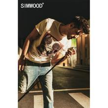 Simwood 2020 verão nova moda vintage impressão hip hop t camisa masculina legal algodão streetwear camiseta superior 190313