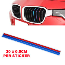 3xM-Colored Stripe Interior Car Sticker Kidney Grille Decal fits for BMW Series Car Styling Reflective Decal Decoration Portable(China)