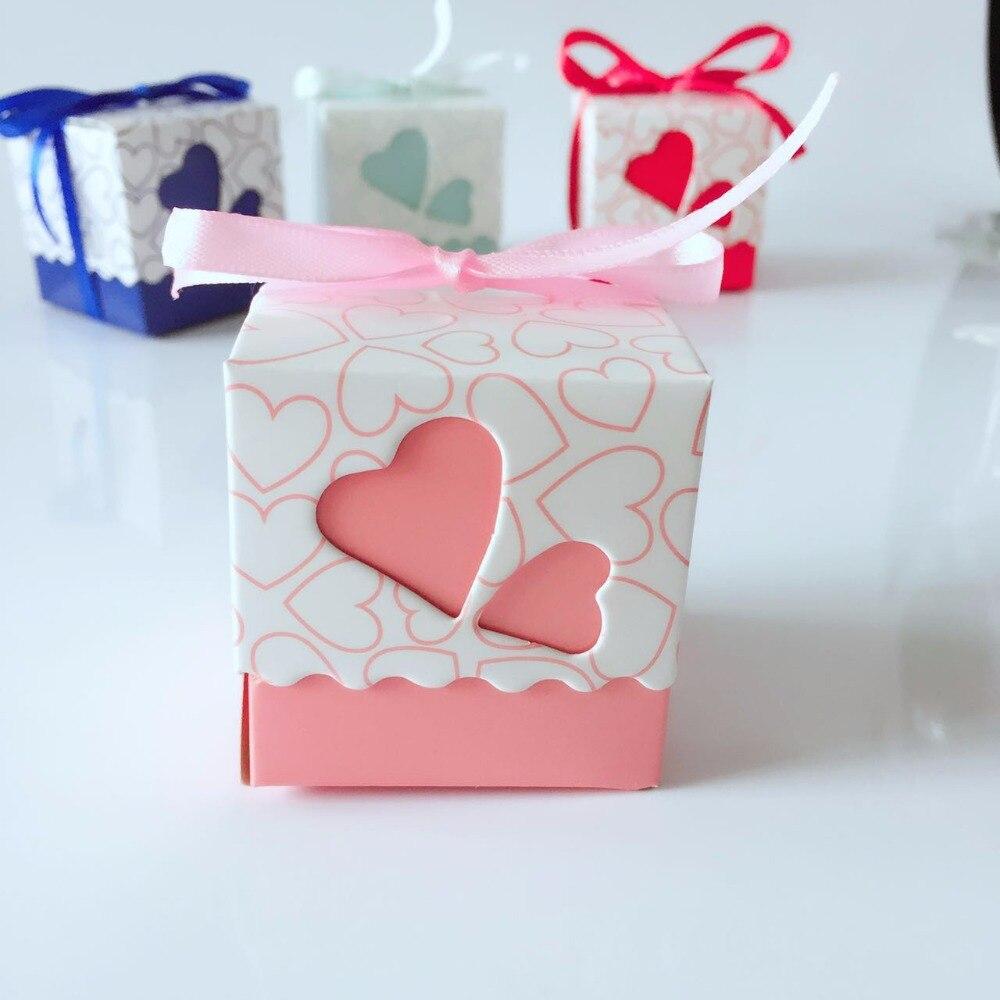 20pcs/lot Small Tiffany DIY Beautiful Candy Box Wedding Favor Gift ...
