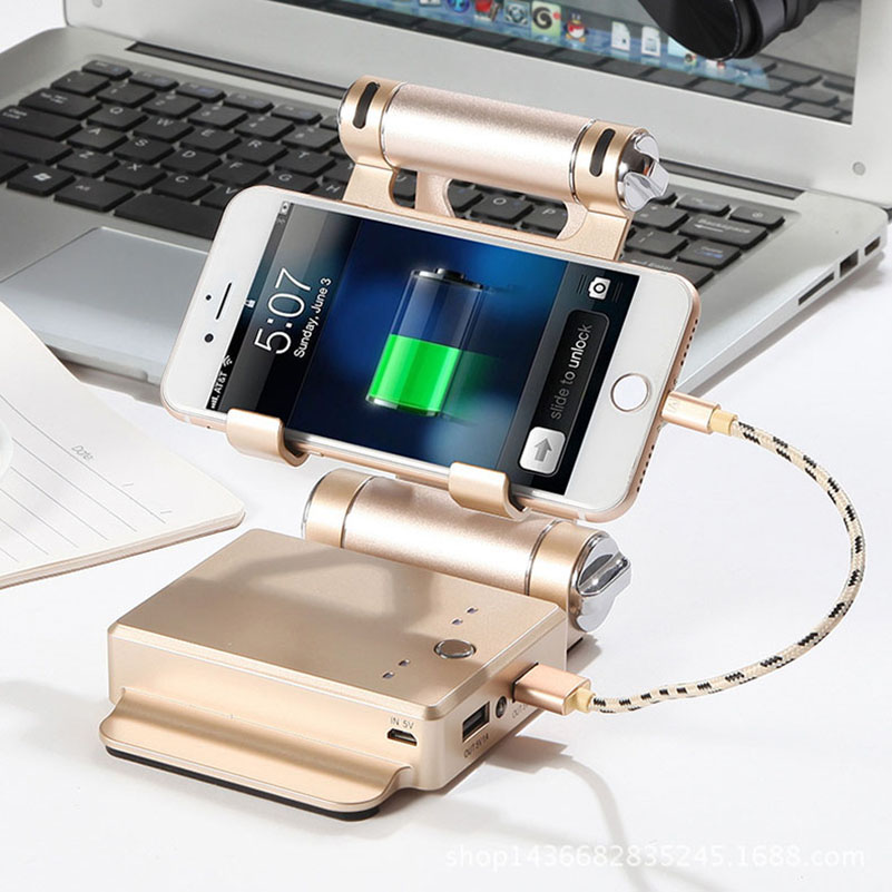 2 in 1 Portable Power Bank 10400mAh External Battery Pack Foldable Phone Holder Poverbank Dual USB Powerbank Mobile Charger usb battery bank charger