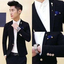 Spring nightclub small suit male Slim youth fashion British hair stylist jacket Korean version of the trend of small suit male