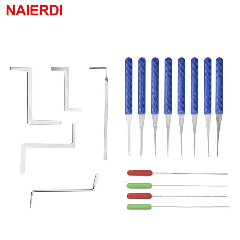 Набор слесарных ключей NAIERDI 17 шт., ручной инструмент для извлечения сломанного ключа, крючка для удаления