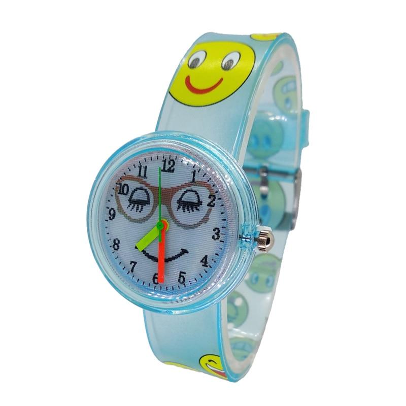 Wristwatch Girl Kids Clock Student Boy Smile Quartz Saati Bayan Kol Eye Gradient Creative