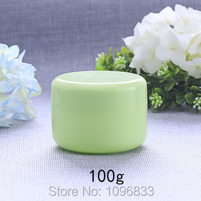 100g Verde Vaso Di Plastica, Cosmetici O Mediche Di Imballaggio Crema Contenitori, 100 Ml Vuota Scatola Di Plastica, Imballaggio Crema Jar, 50 Pz/lotto Grandi Varietà
