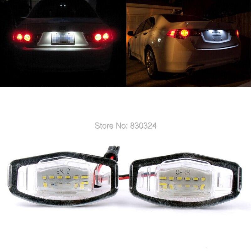 2x18smd Led Number License Plate Light White For Honda