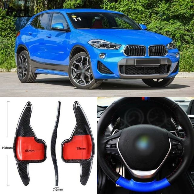 $ 105.27 Carbon Fiber Gear DSG Steering Wheel Paddle Shifter Cover Fit For BMW X2 2018