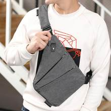Fashion Canvas Outdoor Waist Pack Men Linen Canvas Satchel Shoulder Handbag Crossbody Bags Anti Theft Male Messenger Bag(China)