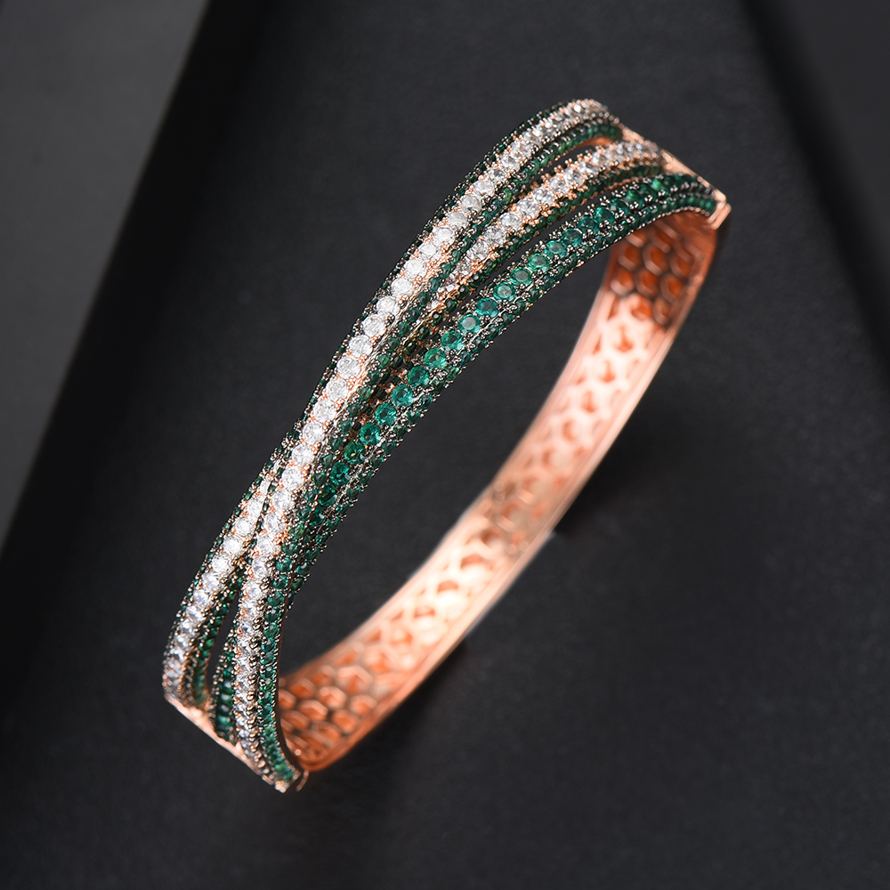 GODKI Wide Big Luxury Stackable Statement Bangle For Women Wedding Full Cubic Zircon Crystal CZ Dubai Silver Bracelets 2019-in Bangles from Jewelry & Accessories    3